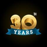 L'or shinny des nombres pour des anniversaires Image stock