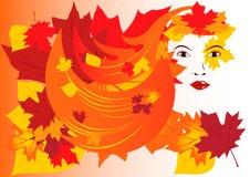 L$signora Autumn illustrazione vettoriale