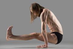 L sit yoga pose Royalty Free Stock Photo