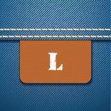 L size clothing label -  Stock Image