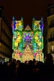 L sonido y luz del DES Rêves de Odyssée del ` muestra en Nantes Imágenes de archivo libres de regalías