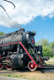 L-2344 steam locomotive, Moscow, Russia Royalty Free Stock Photos