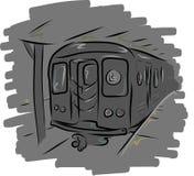 L subterráneo del tren imágenes de archivo libres de regalías