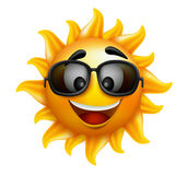 L'été Sun font face avec des lunettes de soleil et le sourire heureux Images stock