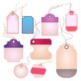 L'étiquette et les labels brillants modernes de dame conçoivent (le vecteur) Images stock