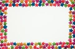 L'étoile a arrangé dans un cadre de tableau Photos stock