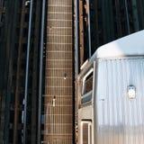 L train Photographie stock libre de droits