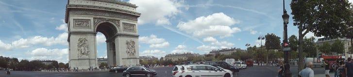 L `-triomphe Paris för båge D Arkivfoton