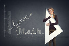 L'étudiant aime des maths Photo stock