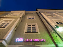 L'tur last minute at night Royalty Free Stock Images