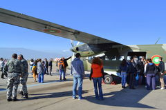 L-410 Turbolet-gronddemonstartion Stock Foto's