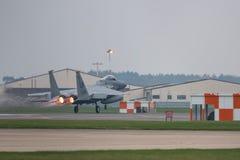 L'U.S. Air Force de RAF Lakenheath F-15 voyagent en jet Photos stock