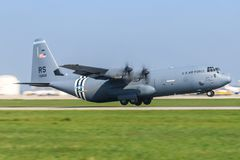 L'U.S. Air Force Hercule C130 photo stock