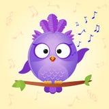 L'uccello canta Fotografia Stock