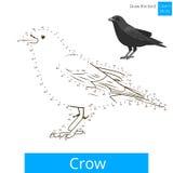 L'uccello del corvo impara disegnare il vettore Fotografie Stock Libere da Diritti