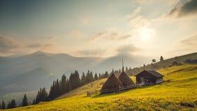 l'ucraina carpathians Dzembronya Fotografia Stock