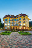 L'Ucraina, Carpathians, Pylypets - 5 maggio: Grande hotel Pylypets il 5 maggio 2013 in Pylypets, Carpathians, Ucraina Fotografia Stock Libera da Diritti