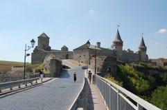 L'Ucraina, castello di Kamianets-Podilskyi Fotografia Stock