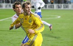 L'Ucraina contro i Paesi Bassi Fotografia Stock