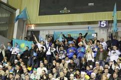 L'Ucraina contro Kazakhstan Fotografia Stock Libera da Diritti