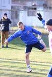 L'Ucraina - Galles: corso di formazione della Pre-partita in Kyiv, Ucraina Fotografia Stock