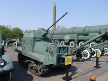 l'ucraina kiev Complesso commemorativo del museo di grande guerra patriottica Attrezzatura militare Retro carro armato Fotografia Stock