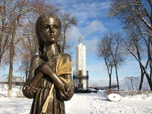 L'Ucraina, Kiev, un monumento ha dedicato agli ucranini di ggenotsidu durante gli anni 1932 - 1933 Immagini Stock Libere da Diritti