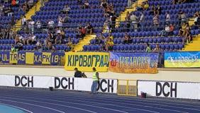 L'Ucraina - la Svezia teams la corrispondenza di gioco del calcio Immagini Stock