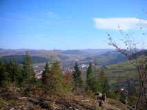 l'ucraina Montagne carpatiche Fotografie Stock Libere da Diritti