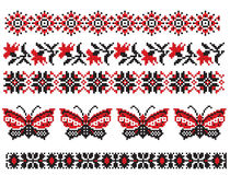 L'ucranino ricama la farfalla Immagini Stock Libere da Diritti