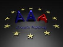 L'Ue perde la stima del credito da accordare del AAA Fotografie Stock Libere da Diritti