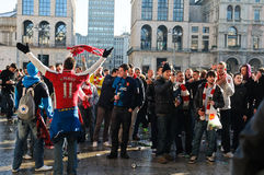 L'UEFA de passionés du football soutiennent la ligue 2012 Images stock