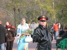 L'ufficiale di polizia Fotografie Stock Libere da Diritti