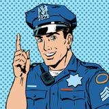 L'ufficiale di polizia avverte attira la professione dell'attenzione Immagine Stock