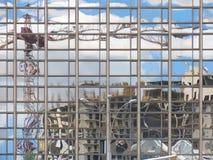 l'ufficio moderno della costruzione ha riflesso Fotografie Stock Libere da Diritti