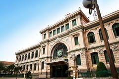 L'ufficio postale ha progettato da Gustave Eiffel, Ho Chi Minh City, Vietnam Fotografie Stock Libere da Diritti