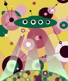 L'UFO d'atterrissage Photographie stock libre de droits