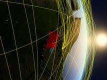 L'Uganda su pianeta Terra di reti fotografie stock