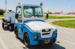 L'Ukraine, Borispol - 22 mai : Équipement pour l'entretien des avions à l'aéroport international Borispol le 22 mai 2015 Photographie stock