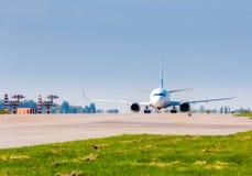 L'Ukraine, Borispol - 22 mai : Boeing 737 avant décollage à l'aéroport international de Borispol le 22 mai 2015 dans Borispol, Uk Image stock