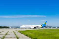 L'Ukraine, Borispol - 22 mai : Boeing 737 décolle de l'aéroport international Borispol le 22 mai 2015 dans Borispol, Ukraine Photographie stock