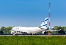 L'Ukraine, Borispol - 22 mai : Boeing 747 lignes aériennes israéliennes à l'aéroport international Borispol le 22 mai 2015 dans B Image stock