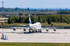 L'Ukraine, Borispol - 22 mai : Boeing 747 lignes aériennes israéliennes à l'aéroport international Borispol le 22 mai 2015 dans B Image libre de droits