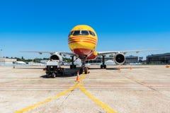 L'Ukraine, Borispol - 22 mai : Boeing 757-200 pour transporter la société DHL de cargaison à l'aéroport international de Borispol Photo libre de droits