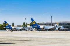 L'Ukraine, Borispol - 22 mai : Boeing 737-800 sur le terminal à l'aéroport international de Borispol le 22 mai 2015 dans Borispol Photographie stock