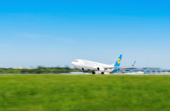 L'Ukraine, Borispol - 22 mai : L'avion décolle à l'aéroport international Borispol le 22 mai 2015 dans Borispol, Ukraine Photo stock