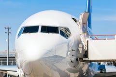 L'Ukraine, Borispol - 22 mai : Le vol de Boeing 737 à l'aéroport international Boryspil le 22 mai 2015 dans Borispol, Ukraine Image stock
