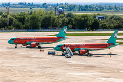 L'Ukraine, Borispol - 22 mai : Ligne aérienne Windrose d'avions à l'aéroport international de Borispol le 22 mai 2015 dans Borisp Photos libres de droits