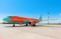 L'Ukraine, Borispol - 22 mai : Ligne aérienne Windrose d'avions à l'aéroport international de Borispol le 22 mai 2015 dans Borisp Photos stock