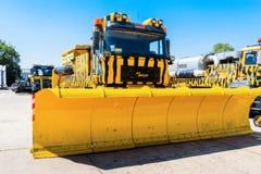 L'Ukraine, Borispol - 22 mai : Souffleuse de neige Équipement pour l'entretien de la piste à l'aéroport international Boryspil Photos stock